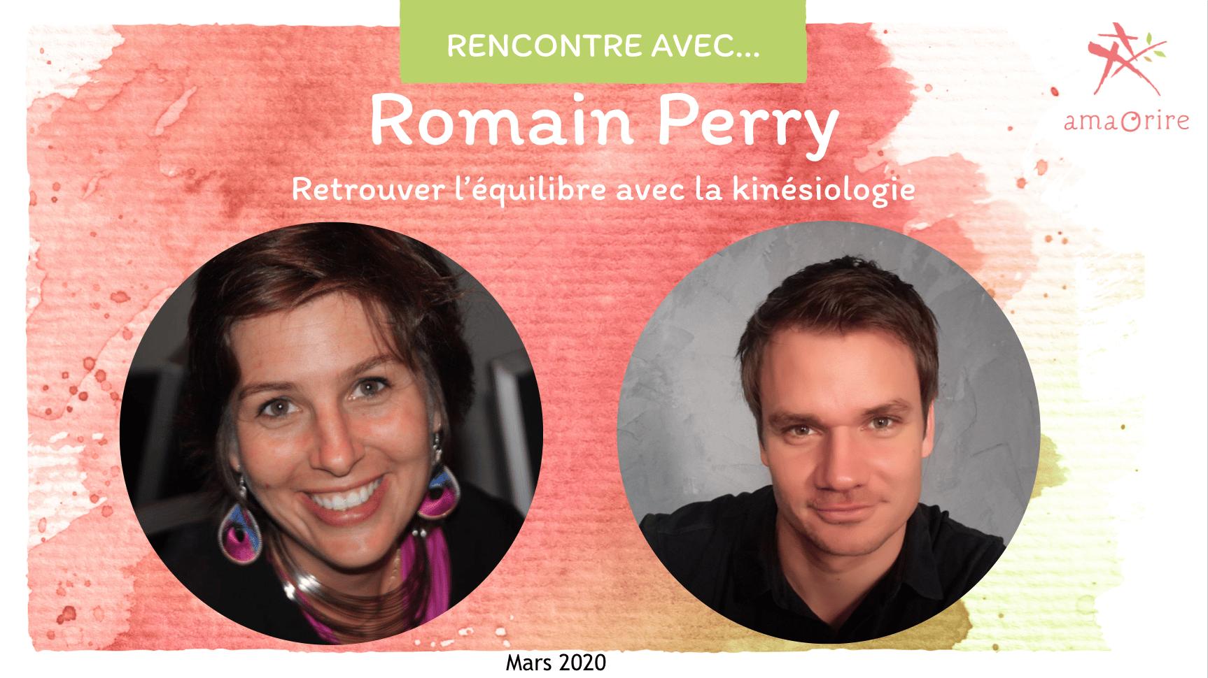 Romain Perry: trouver son équilibre avec la kinésiologie